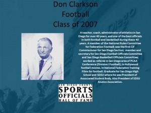 Don Clarkson, Football