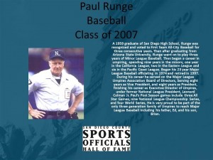 Paul Runge, Baseball