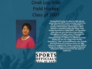 Cindi Lou Villa, Field Hockey
