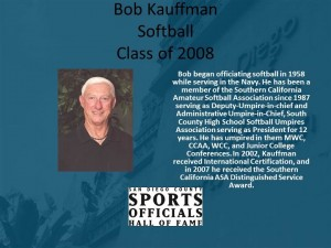 Bob Kauffman, Softball