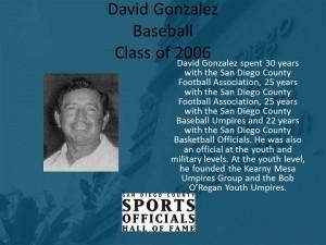 David Gonzalez, Baseball