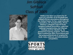 Jim Giblisco, Softball