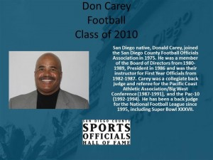 Don Carey, Football