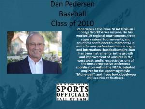 Dan Pedersen, Baseball