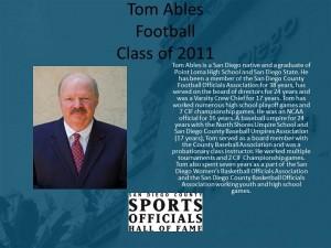 Tom Ables, Football