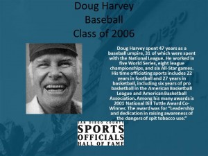 Doug Harvey, Baseball