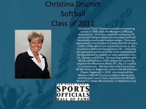 Christina Drumm, Softball