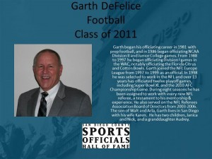 Garth DeFelice, Football