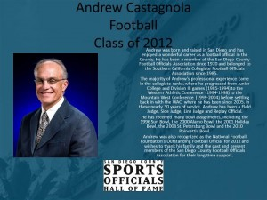 Andrew Castagnola, Football