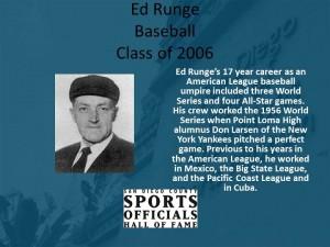Ed Runge, Baseball